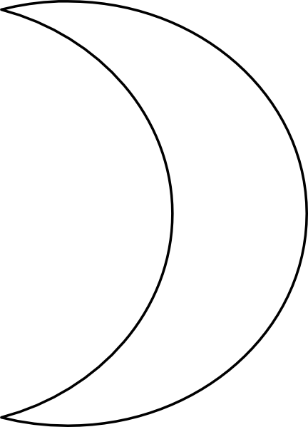 432x599 Moon Clipart Black And White