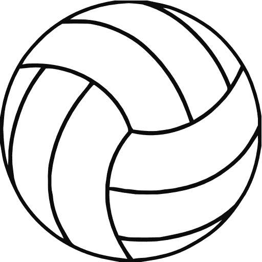512x512 Volleyball Clip Art Shapes Cwemi Images Gallery