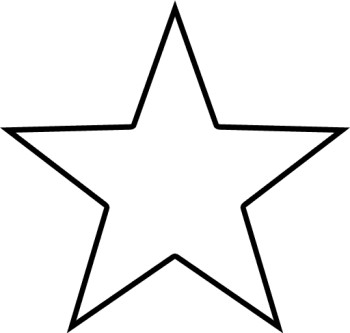 350x333 Black And White Star Clip Art