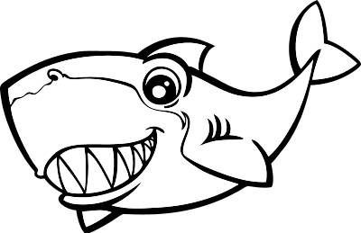 400x259 Friendly Shark Clip Art Clipart Panda