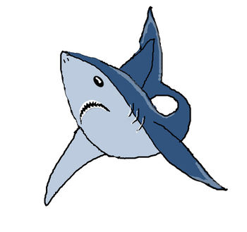 350x329 Great White Shark Clip Art Picture