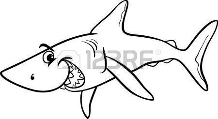 450x246 Great White Shark Clipart Ocean Creature
