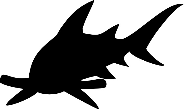 600x356 Hammerhead Shark Clip Art Free Vector In Open Office Drawing Svg