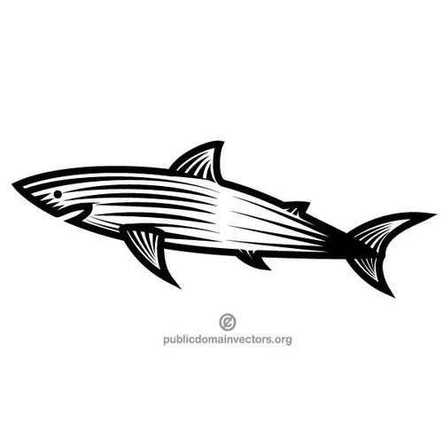 500x500 Shark Black And White Clip Art Public Domain Vectors