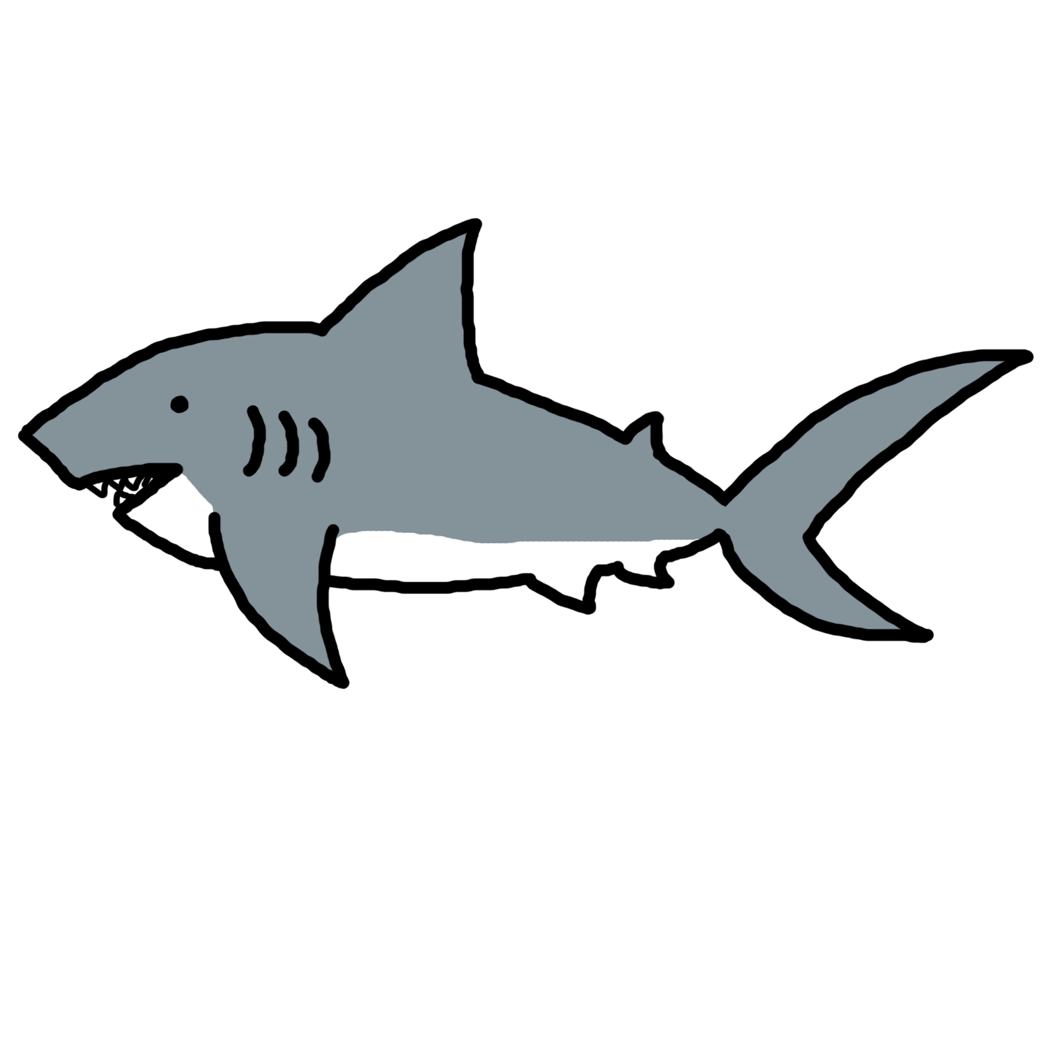1500x1500 Shark Clip Art Black And White Free Clipart Images