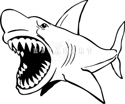 400x334 Shark Clipart Black And White