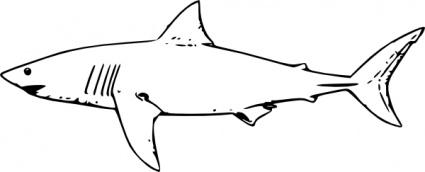 425x172 White Shark Clip Art Vector, Free Vector Images