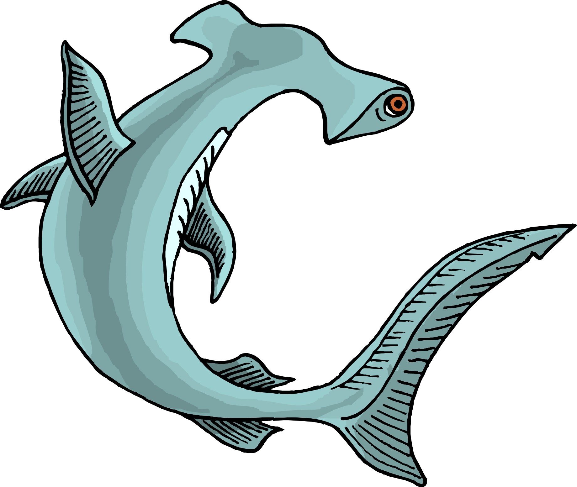 1840x1554 Animal Hammerhead Shark Clipart