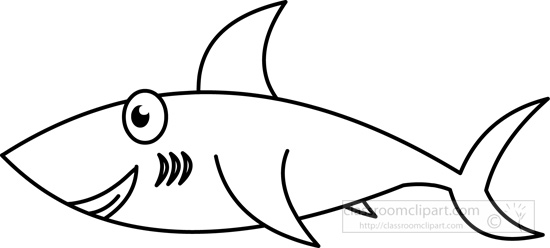 550x248 Animals Clipart Shark Black White Outline
