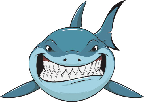 500x354 Cartoon Funny Shark Vector Material 03 Epin Free Graphic