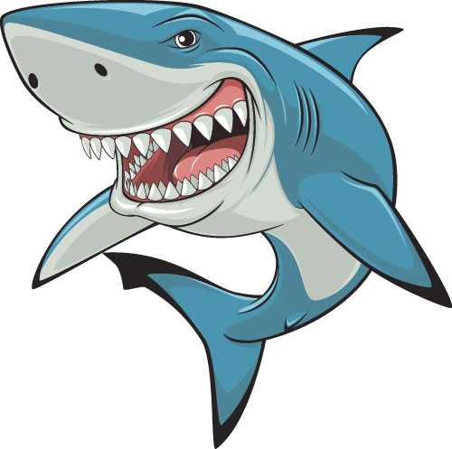 500x497 Cartoon Funny Shark Vector Material 04 Epin Free Graphic