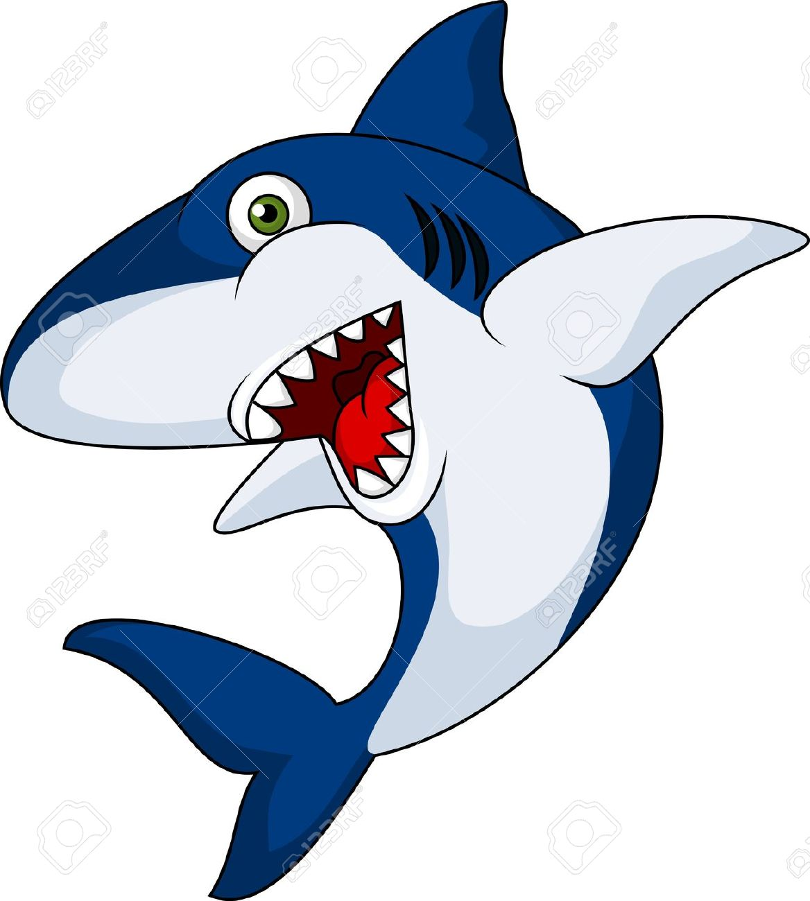 1168x1300 Cartoon Shark Clipart