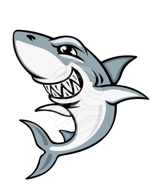 316x400 Cartoon Shark Mascot