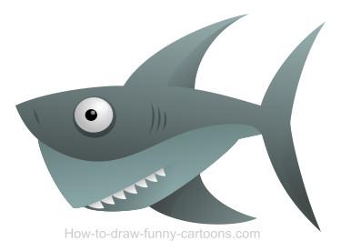 375x276 Drawing A Shark Cartoon