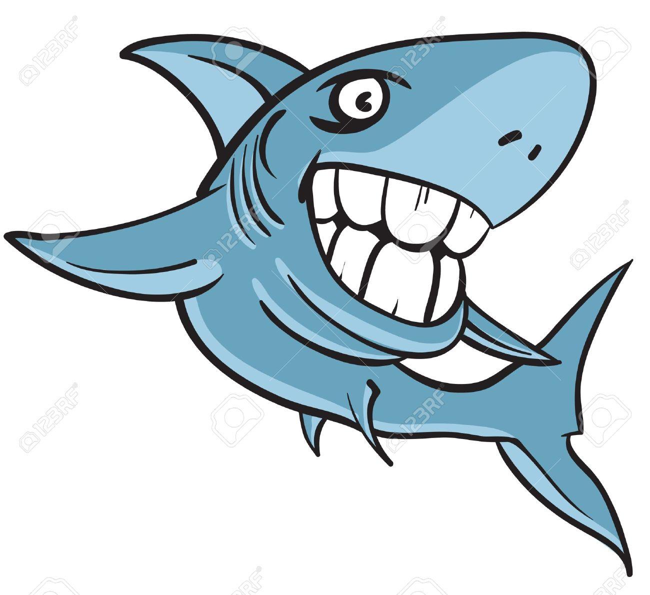1300x1190 Great White Shark Clipart Cartoon