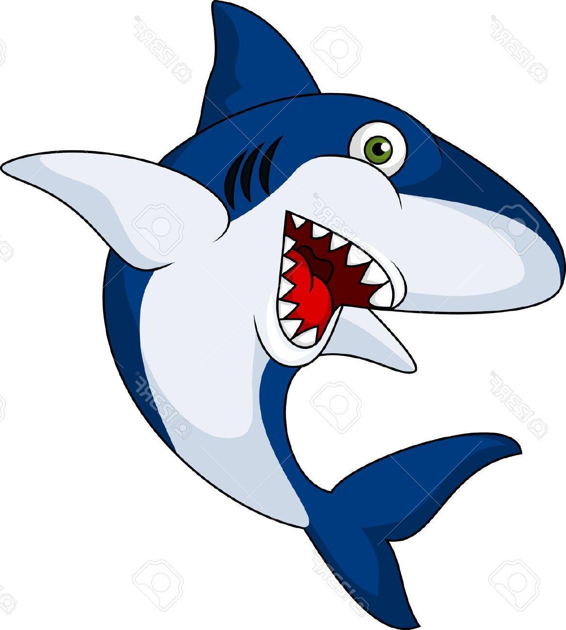 1168x1300 Hd Smiling Shark Cartoon Stock Vector Image