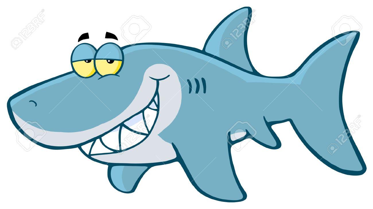 1300x728 Happy Shark Cartoon Character Royalty Free Cliparts, Vectors,