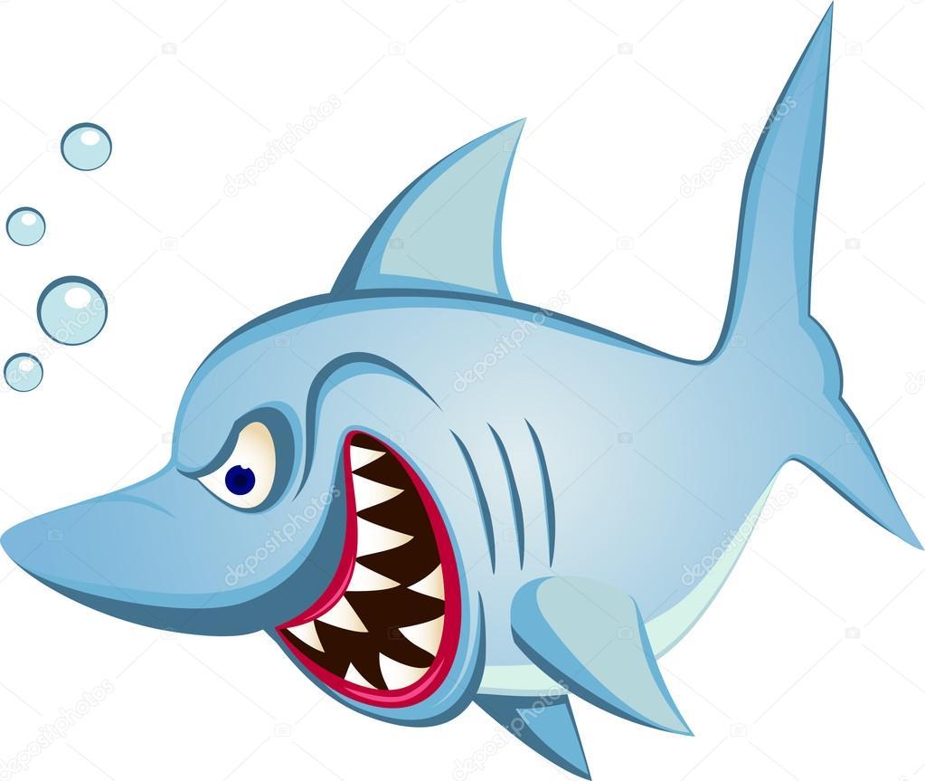 1023x863 Angry Shark Cartoon Stock Vector Dagadu