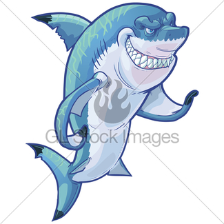 325x325 Mean Cartoon Lacrosse Shark With Equipment Gl Stock Images