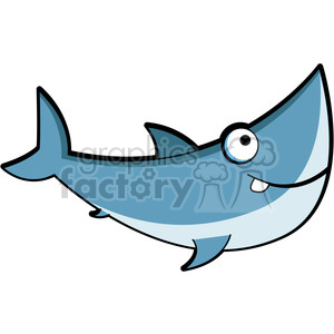 300x300 Royalty Free Cartoon Great White Shark Clip Art 387187 Vector Clip