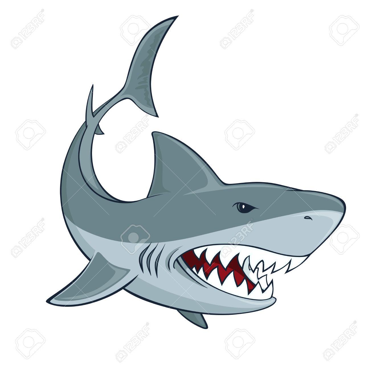 1299x1300 Bull Shark Clipart Cartoon