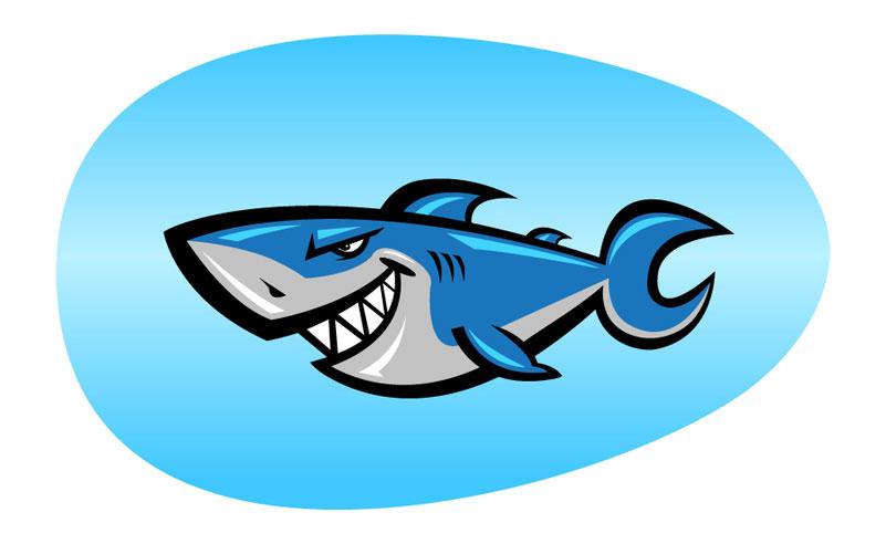 801x492 Shark Cartoon