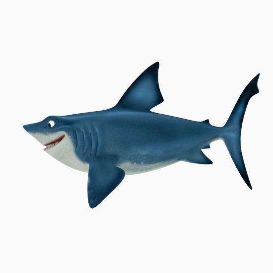 550x550 Shark Cartoon 3d Asset Cgtrader