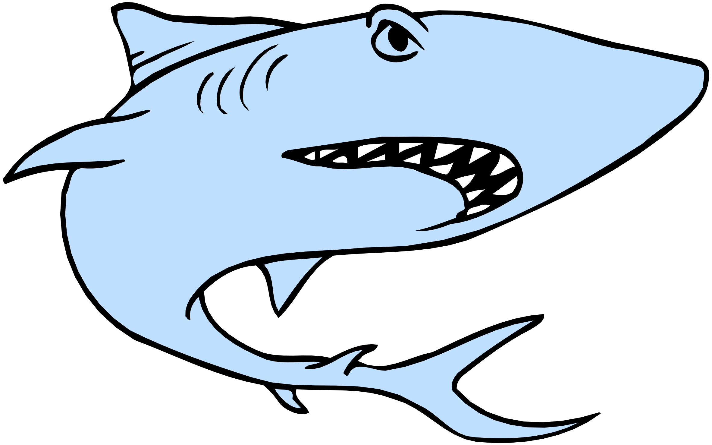 2363x1476 Shark Clipart Cartoon Shark