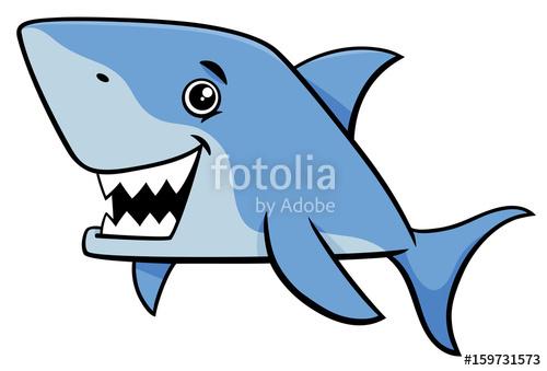 500x339 Shark Fish Cartoon Character Stock Image And Royalty Free Vector