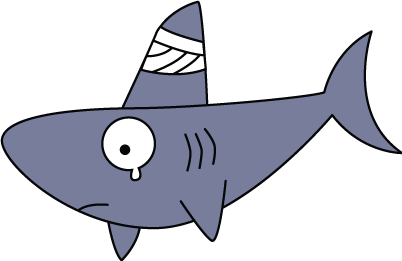 402x261 Cartoon Shark Fin