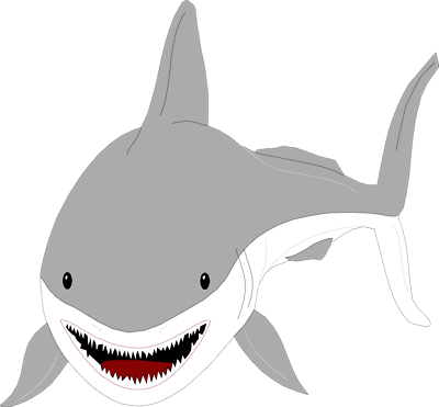 400x371 Free Shark Clip Art Free Clipart Images 7
