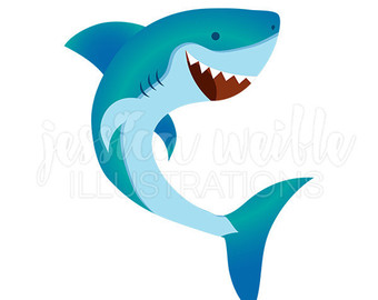 340x270 SHARKS CLIP Art Shark Attack Digital Clipart Sharks Fish