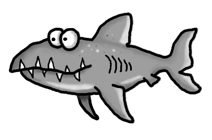 714x470 Shark clip art black and white free clipart –