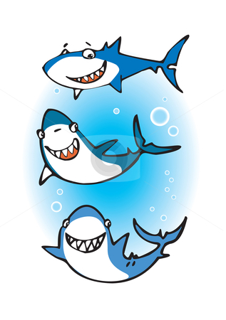 317x450 Three happy sharks Little Sharks Happy shark and Shark