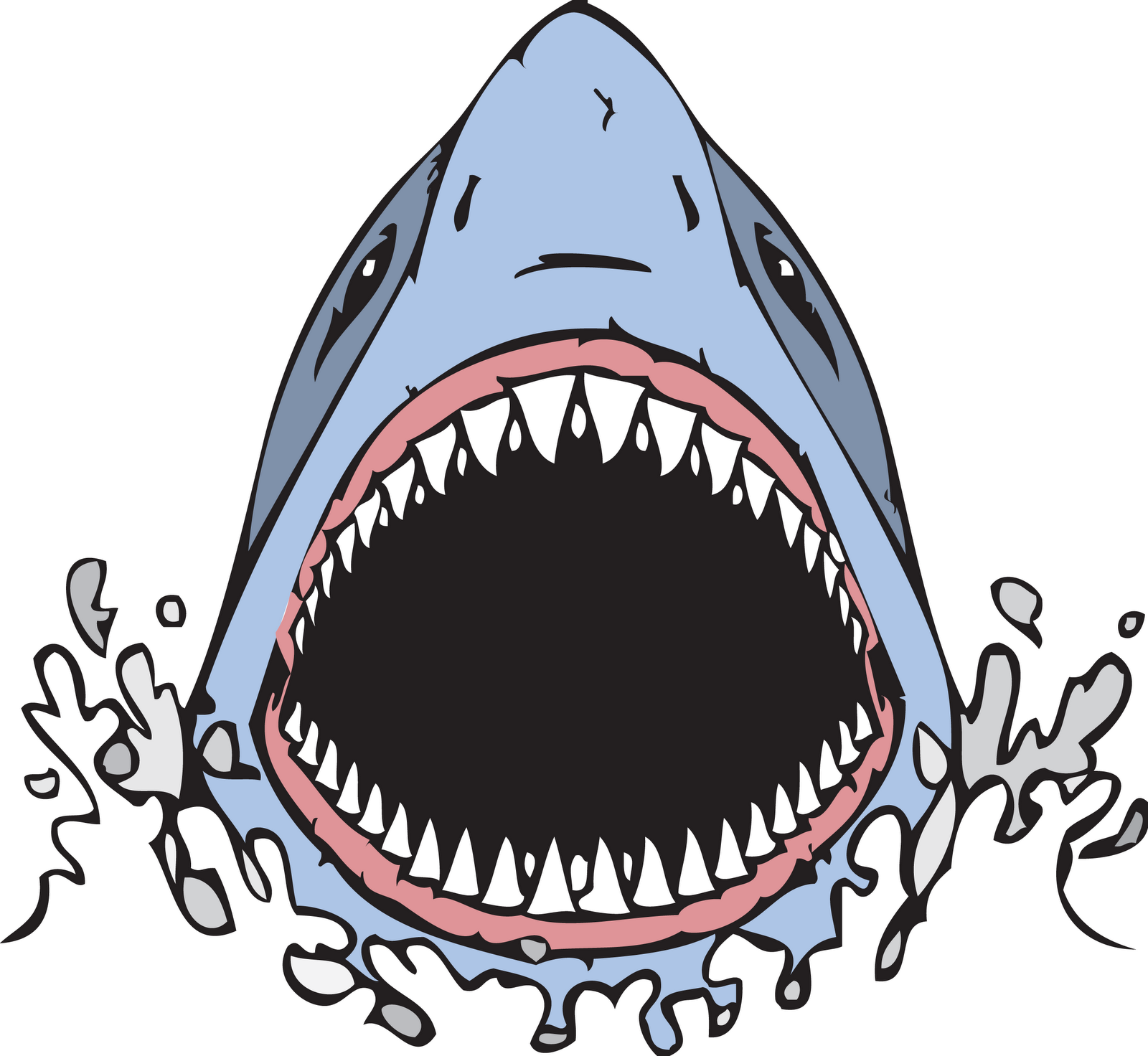 1600x1472 Tiger Shark clipart mouth open clip art