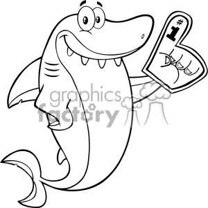Shark Clipart Black And White