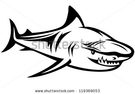 450x313 Shark Clipart Shark Outline