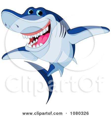 450x470 Cartoon Of A Mean Shark