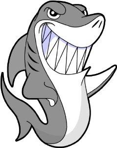 239x300 Cartoon Shark Clipart