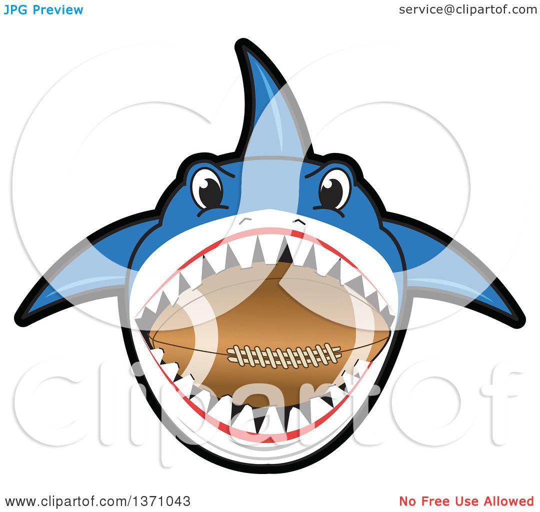 1080x1024 Clipart Of A Shark School Mascot Character Biting An American
