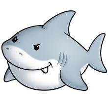 220x220 Cute Shark Clipart