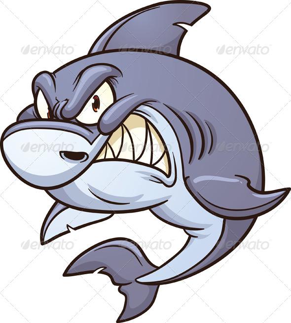 590x656 Angry Shark Shark, Cartoon And Art Illustrations