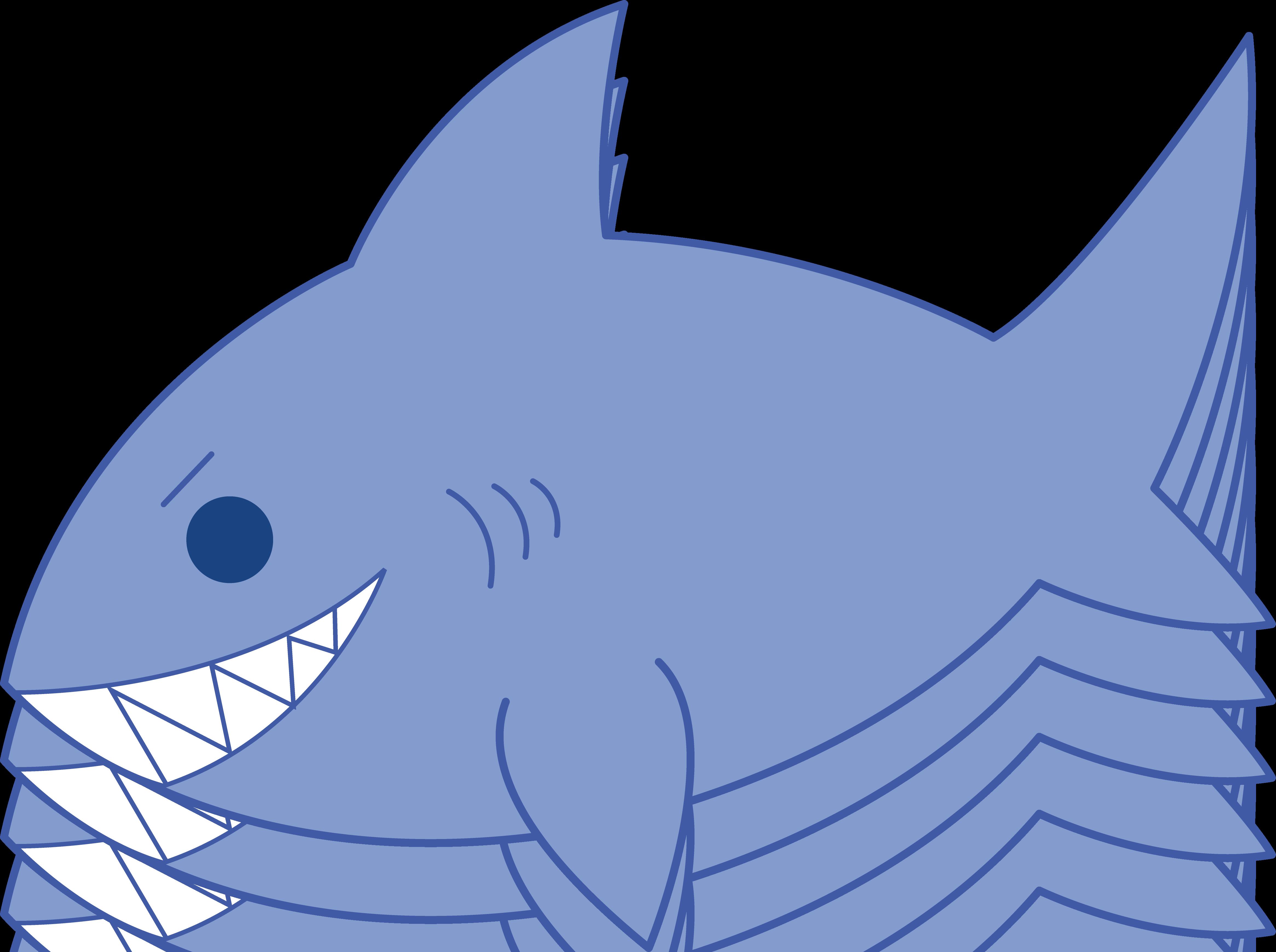 4663x3480 Shark Friendly Clipart