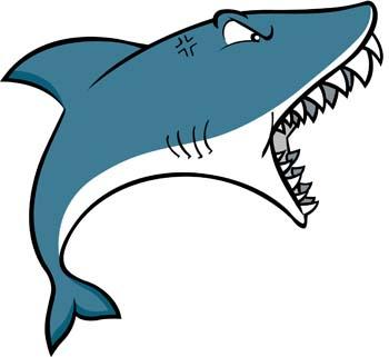350x321 Shark Clipart Vector