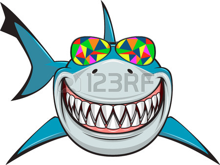 450x337 Vector Illustration, Toothy White Shark Royalty Free Cliparts