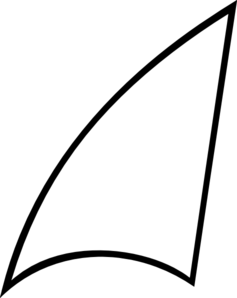 237x298 Shark Fin Shape Clip Art