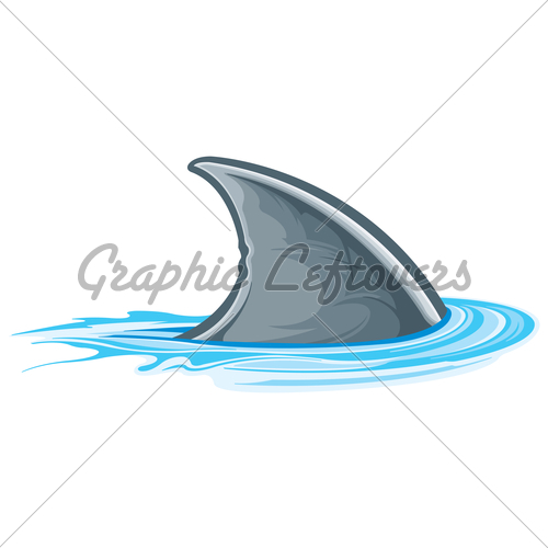 500x500 Cartoon Shark Fin Clipart Panda