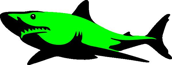 600x228 Shark Clipart Green