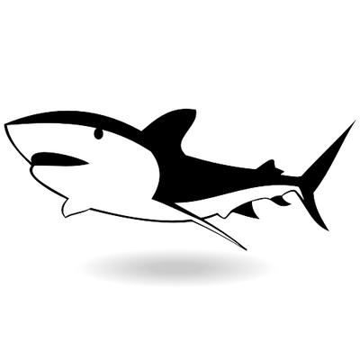 400x400 Shark Fin Clip Art Vector Graphics 3