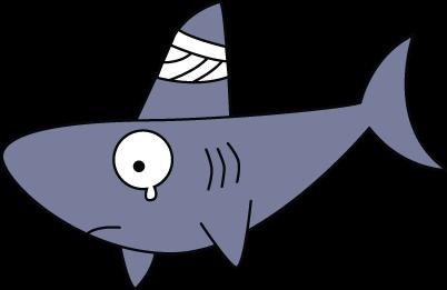 402x261 Cartoon Shark Fin Clip Art Library